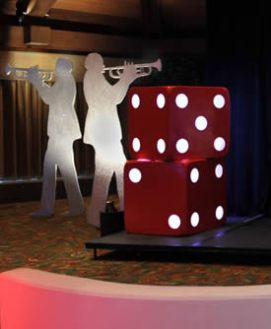 Giant Red LED Dice