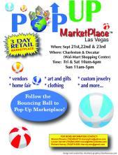 pop up marketplace flyer