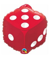 98446-18-inches-Dice-w-Hang-Tab-Red-Packaged-Mylar-balloons
