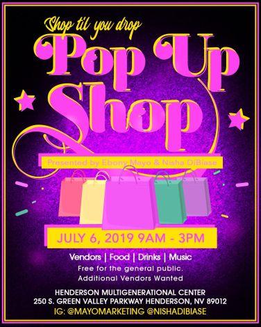 Pop up shop flyer